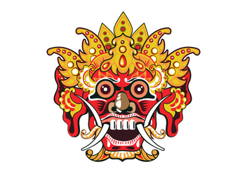 Orange Barong Vector - vector #400827 gratis