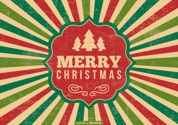Retro Style Christmas Illustration - vector gratuit #400907