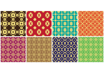 Free Songket Seamless Pattern Vector - vector gratuit #400957