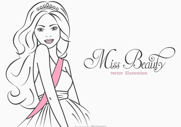 Free Miss Beauty Vector Illustration - бесплатный vector #401047