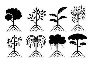 Mangrove trees vector - Free vector #401067