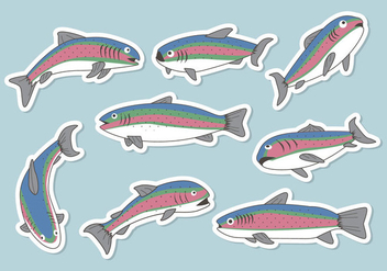 Free Rainbow Trout Vector - Free vector #401207