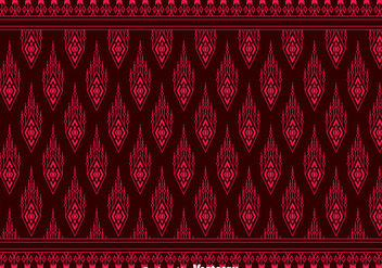 Red Songket Pattern Background - vector gratuit #401217