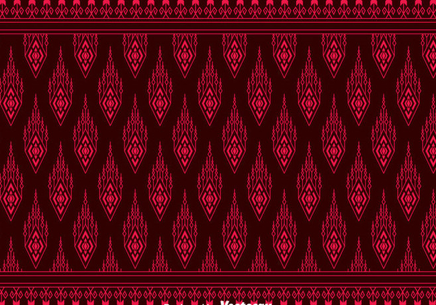 Red Songket Pattern Background - vector #401217 gratis