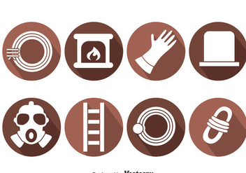 Chimney Sweep Element Icons Vector - Free vector #401227