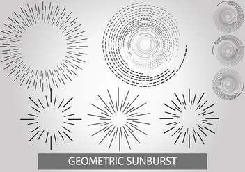 Geometric Sunburst Vector Set - Free vector #401247