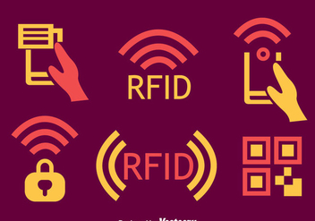 Rfid Element Icons Vector - Free vector #401267