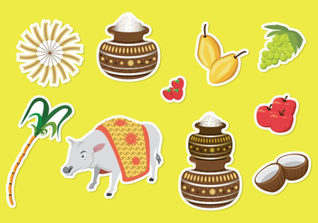 Free Pongal Icons - vector #401287 gratis