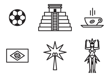 Brazilian Icons - vector gratuit #401347