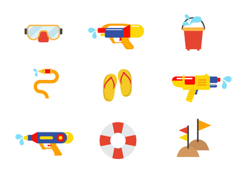 Free Songkran Vector Icon Set - Free vector #401357