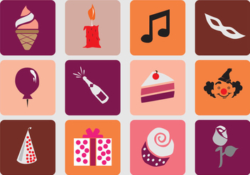 Birthday Sweet 16 Icon - Free vector #401407
