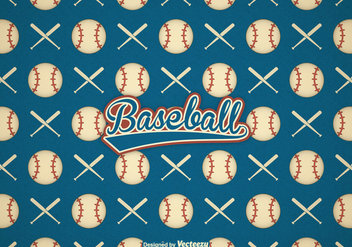 Free Retro Baseball Vector Background - Kostenloses vector #401417