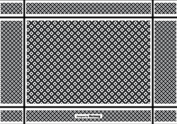 Keffiyeh Pattern Background - vector gratuit #401547