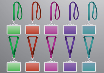 Set Of Lanyard Vectors - Free vector #401627