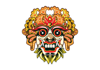 Detailed Barong Mask Vector - vector gratuit #401647