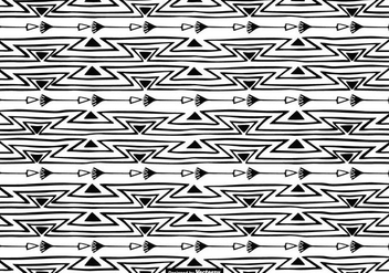 Hand Drawn Boho Style Pattern Background - vector gratuit #401677