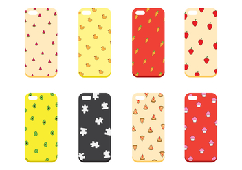 Free Set of Phone Case Vector - Free vector #401697