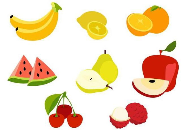 Free Fruits Cut Vector - vector gratuit #401747