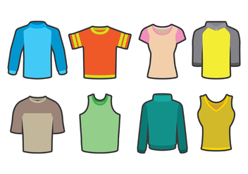 Raglan Shirt Icons - Free vector #401827