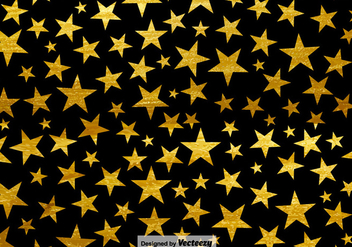 Black Background With Stars Seamless Pattern - Free vector #401837