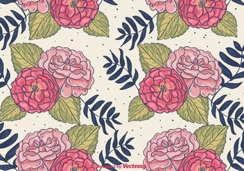 Hand Drawn Floral Background - vector gratuit #401907