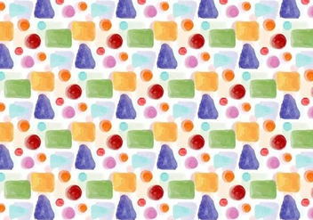 Free Vector Watercolor Geometric Background - Free vector #401917