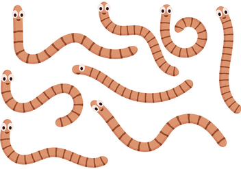 Earthworm Vector 5 - бесплатный vector #401927