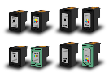 Ink Cartridge vector - vector #401977 gratis