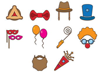 Set Of Purim Celebration Icons - vector #402007 gratis