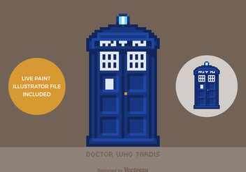 Free Vector Pixel Doctor Who Tardis - бесплатный vector #402097