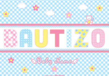 Free Bautizo Scrapbook Vector Card - бесплатный vector #402247