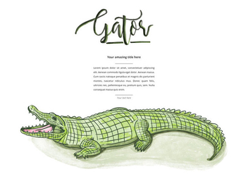 Free Gator Background - Free vector #402277