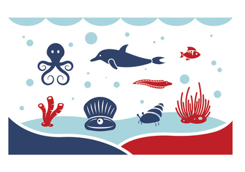Under the Sea Vectors - Free vector #402307
