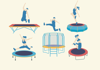 Trampoline Equipment Vector - Kostenloses vector #402397