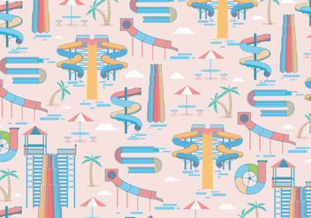 Water Slide Pattern Vector - vector gratuit #402407