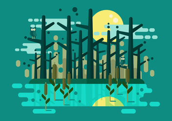 Swamp Vector Illustration - бесплатный vector #402517