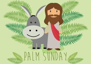 Free Palm Sunday Illustration - бесплатный vector #402527