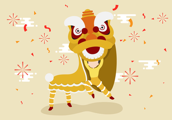 Free Lion Dance Vector Illustration - Kostenloses vector #402597