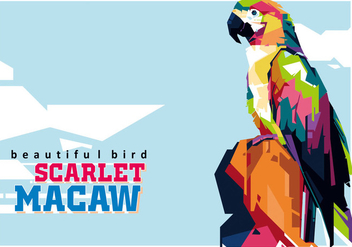Scarlett Macaw - The most beautiful bird - Free vector #402627