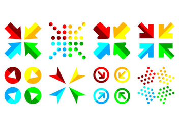 Free Combined Arrow Icon Vector - vector gratuit #402647