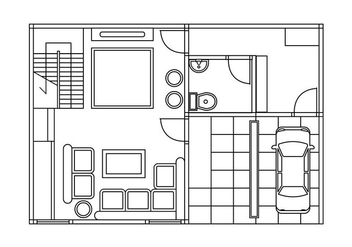 Floor plan vector - vector #402667 gratis