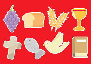 Communion Icons - vector gratuit #402677