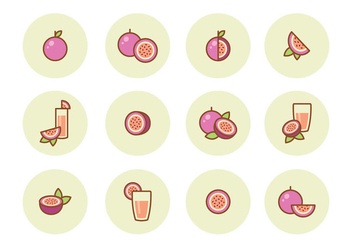 Free Passion Fruit Icons - vector gratuit #402687