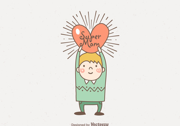 Free Vector Hand Drawn Super Mom - бесплатный vector #402847