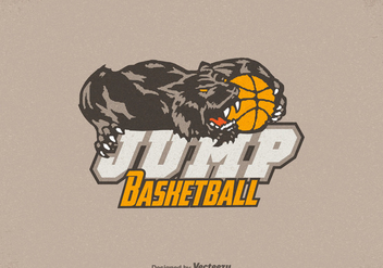 Free Honey Badger Basketball Logo Vector - Free vector #402857