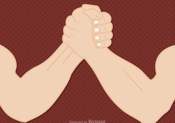 Free Arm Wrestling Vector Illustration - Free vector #402887