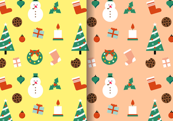 Free Christmas Pattern Vector - vector gratuit #402897