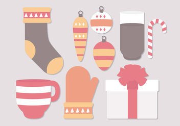 Vector Christmas Winter Objects - vector gratuit #402917