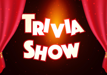 Trivia Show Background Illustration - vector gratuit #402997