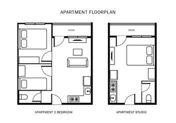 Apartment Floorplan - бесплатный vector #403037